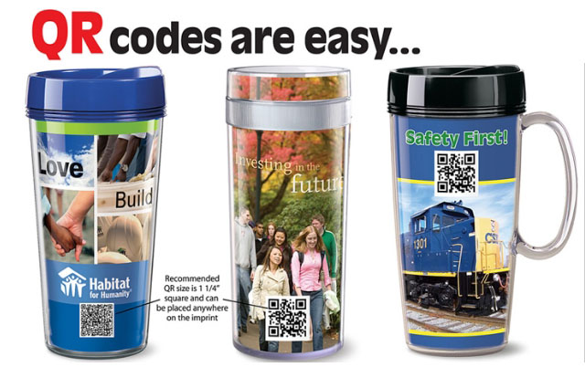 promote your brand with QR codes on your swag