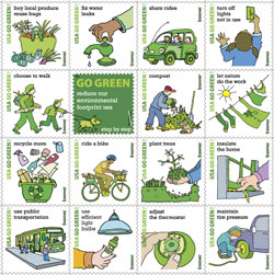 The Post Office has released its new Go Green stamps to the public this week