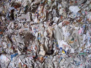 go green by reducing waste paper