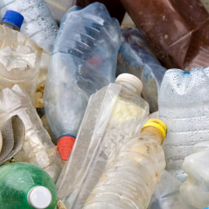 converting plastic soda bottles to recycled plastic
