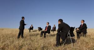encourage more outdoor meetings at work