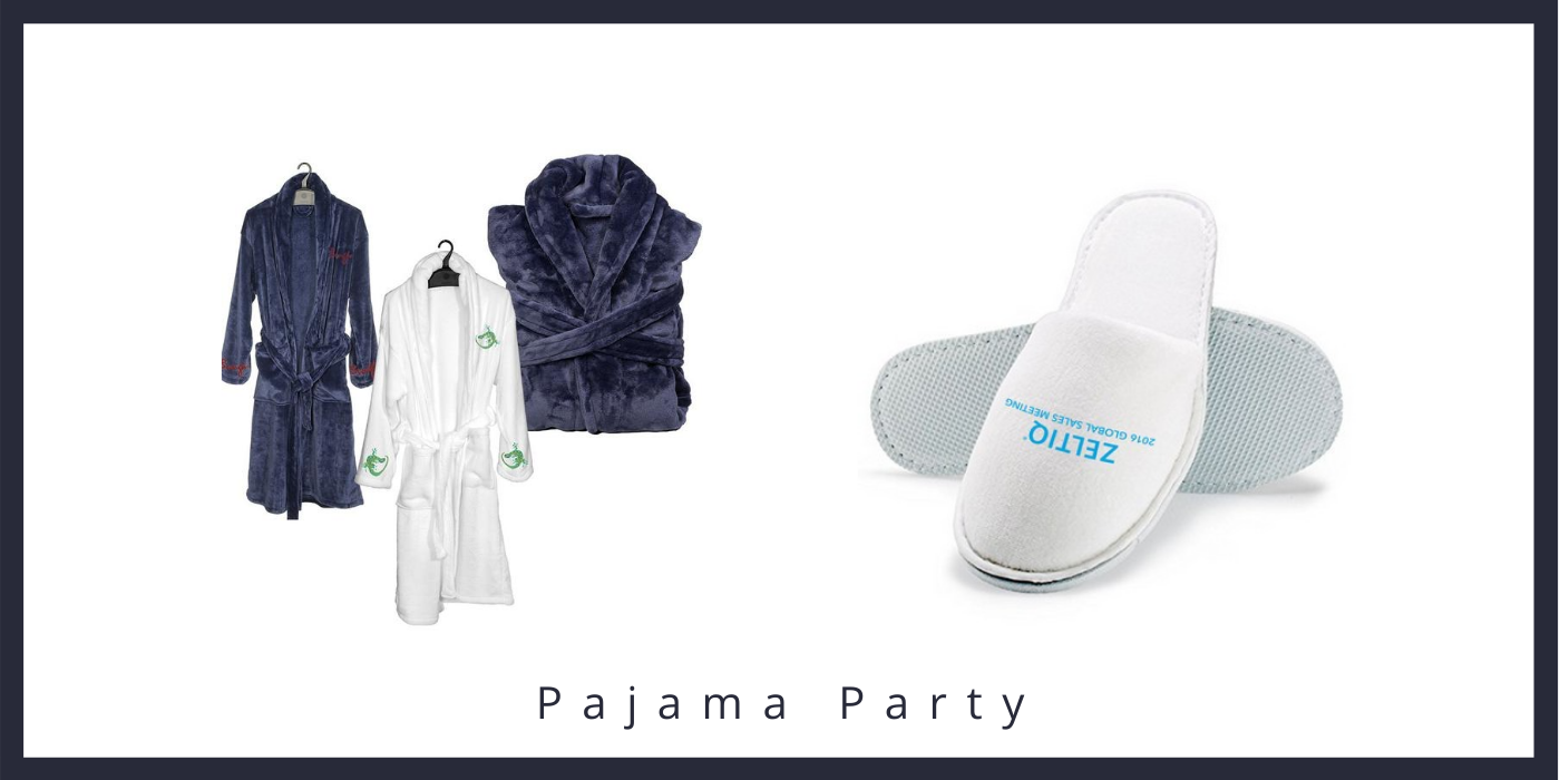 eco-friendly pajama clothes with logos