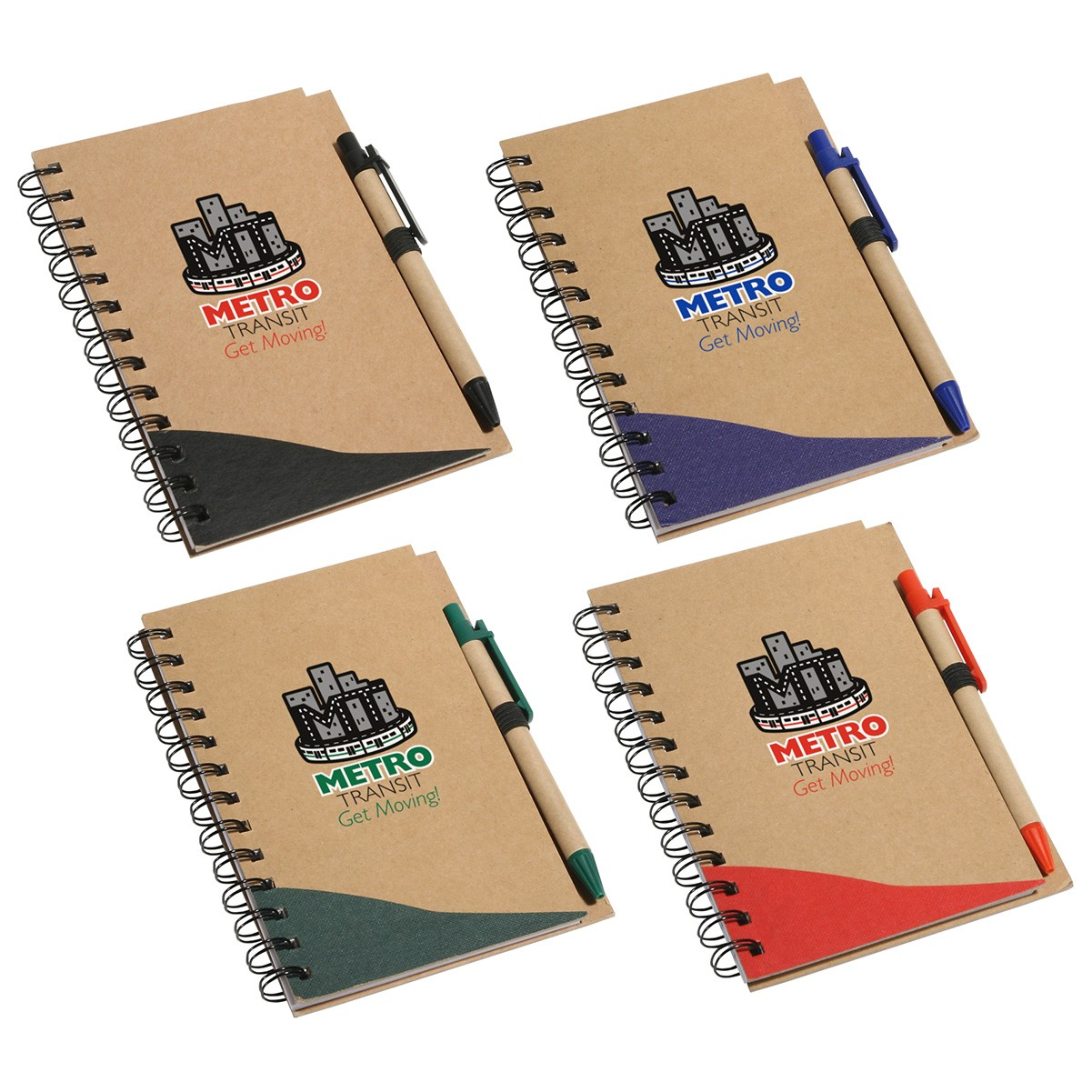 recycled notebook and pen set