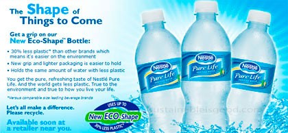 Bottled Water-Good for the Body, Not for the Planet