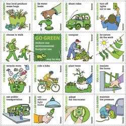 US Post Office Has Released New Go Green Postage Stamps