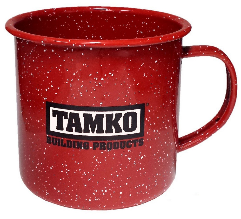 Customized 12 oz Red Speckled Enameled Steel Cup