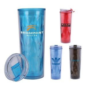 22 Oz. Dazzle Double Wall Acrylic Tumbler Cup