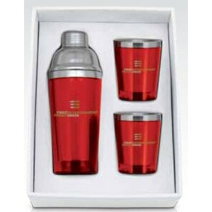 Cocktail Shaker & Tumblers Cup Gift Set