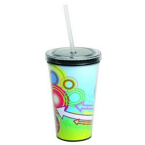 16 Oz. Double Wall Acrylic Cup w/ Paper Insert