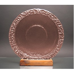 Copper Bi-Textured Apollo Platter. Recycled Glass on Recycled Wood Base.