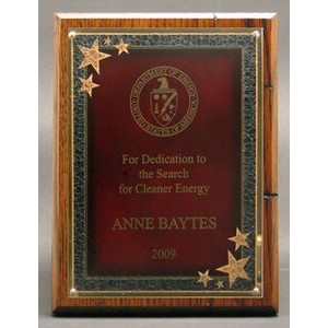 "Modern Nostalgia Series Plaque w/ Red Seeing Stars Series Plate (8""x10"")"