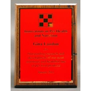 "Modern Nostalgia Series Plaque w/ Red Classic Series Plate (6""x8"")"