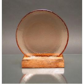 Circle of Excellence Award Plate with 100% Recycled Wood Base. COPPER.