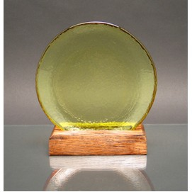 Circle of Excellence Award Plate with 100% Recycled Wood Base. CITRUS.