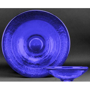 Cobalt Blue Party Bowl Award - Recycled Glass