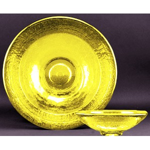 Citrus Yellow Party Bowl Award - Recycled Glass