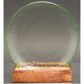Circle of Excellence Award Plate with 100% Recycled Wood Base. CELERY.