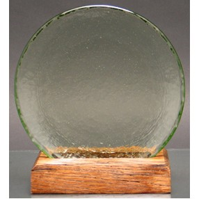 Circle of Excellence Award Plate with 100% Recycled Wood Base. OLIVE.