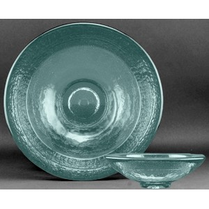 Aqua Blue Party Bowl Award - Recycled Glass
