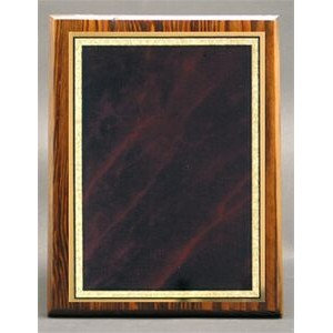 "Modern Nostalgia Series Plaque w/ Red Marble Mist Series Plate (7""x9"")"