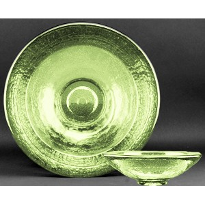 Celery Green Party Bowl Award - Recycled Glass